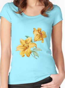 Yellow orchides Women's Fitted Scoop T-Shirt