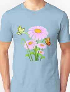 Cute daisies with butterflies T-Shirt