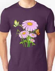 Cute daisies with butterflies T-Shirt