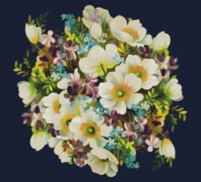 Colorful watercolor bouquet Kids Tee