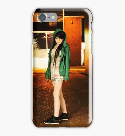 Clubber running from the cops iPhone Case/Skin