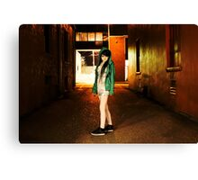Clubber running from the cops Canvas Print