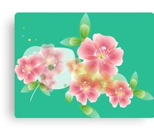 Shining pink flowers Canvas Print