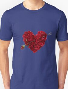 Red rose petals T-Shirt
