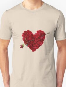 Red rose petals Unisex T-Shirt