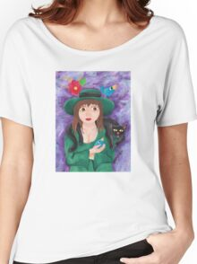 Girl in the Green Dress Women's Relaxed Fit T-Shirt