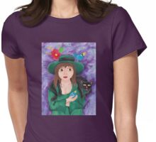 Girl in the Green Dress Womens Fitted T-Shirt