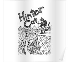 Hinter Cat Sketch Poster