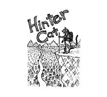 Hinter Cat Sketch Photographic Print