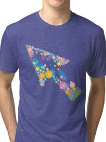Colorful flower arrow Tri-blend T-Shirt