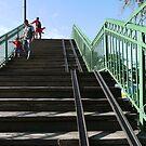 Bishkek Station - footbridge by Marjolein Katsma