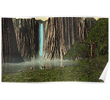 Canyon Waterfall Poster
