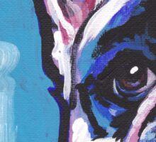 French Bulldog Dog Bright colorful pop dog art Sticker