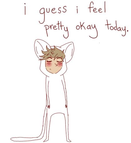 """i guess i feel pretty okay today"" weird cats Sticker"