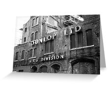 Abandoned Factory Building Greeting Card