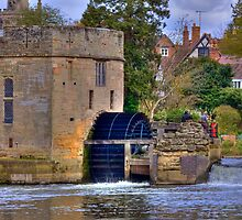 Warwick Castle Power House With Water Wheel by Nigel Donald