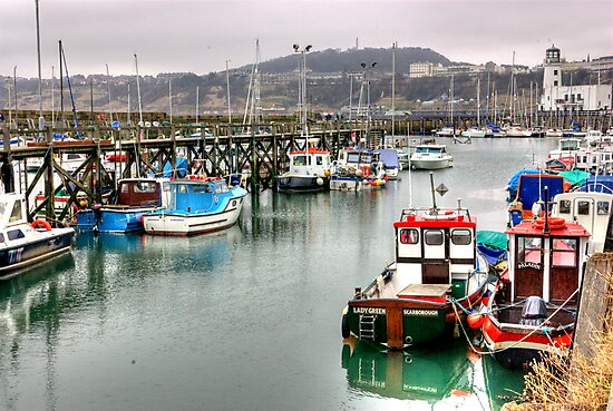 The Harbour ~ Scarborough by Trevor Kersley