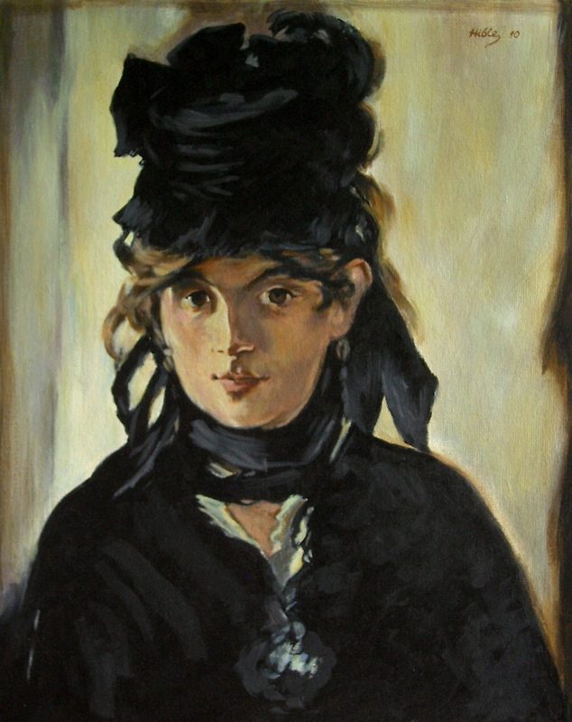 Portrait of Berthe Morisot with a Bouquet of Violets (after Manet) by bryanhibleart
