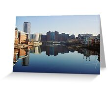 Salford Quays Reflection Greeting Card