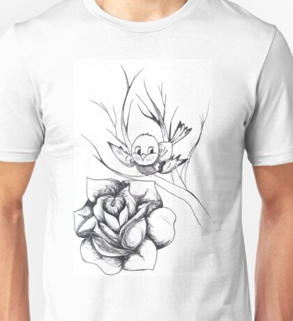 Swallow and rose Unisex T-Shirt
