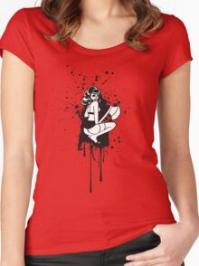 Sherry Trifles Splatter Women's Fitted Scoop T-Shirt