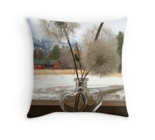 Seedheads in the Window Throw Pillow