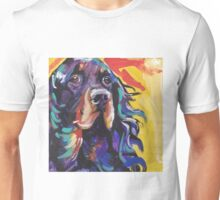 Gordon Setter Dog Bright colorful pop dog art Unisex T-Shirt