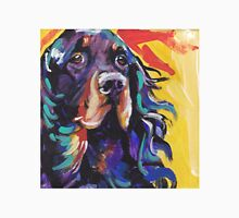 Gordon Setter Dog Bright colorful pop dog art Unisex T-Shirt