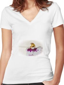 Orchid flower Women's Fitted V-Neck T-Shirt