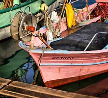 The Pink Fisher Boat by jean-louis bouzou