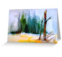 Over The Snow... Greeting Card