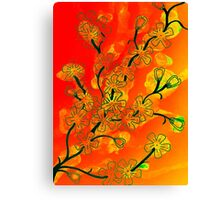 Flowers on Fire Canvas Print