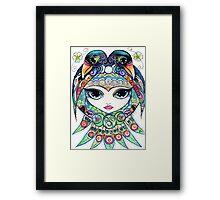 Raven Girl by Sheridon Rayment Framed Print