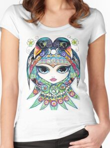 Raven Girl by Sheridon Rayment Women's Fitted Scoop T-Shirt