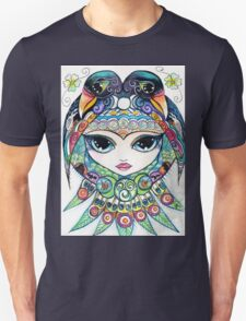 Raven Girl by Sheridon Rayment Unisex T-Shirt