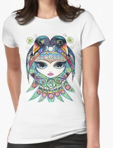 Raven Girl by Sheridon Rayment Womens Fitted T-Shirt