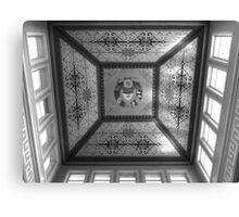 Bishkek Station - dome ceiling (B&W) Canvas Print