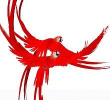 red parrots by logoferoz