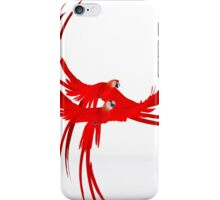 red parrots iPhone Case/Skin