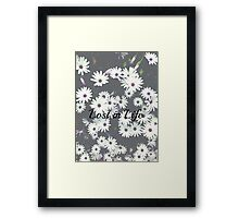 Lost in Life-Flowers Framed Print