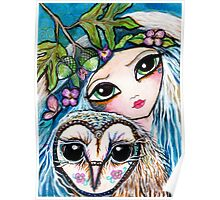 Owl Sprite by Sheridon Rayment Poster
