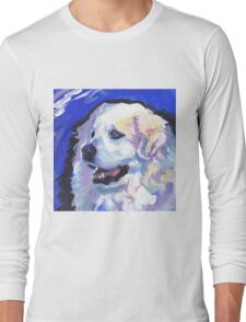 Great Pyrenees Mountain Dog Bright colorful pop dog art Long Sleeve T-Shirt