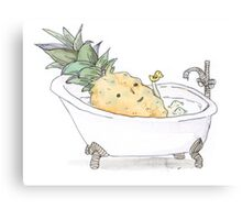 Pineapple Wash Canvas Print
