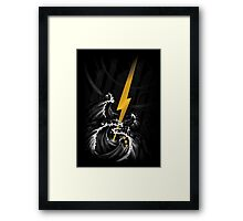 Electric Guitar Storm Framed Print