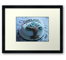 Golden Wedding Anniversary Cake Framed Print