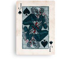 Knock, Vampire Jack of Spades Canvas Print