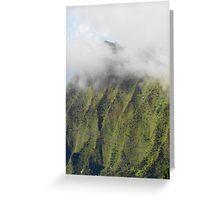 Na Pali cloud cover Greeting Card