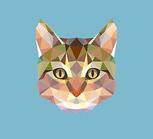 Geometric Cat by KingdomofArt