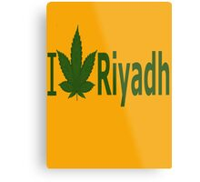 0062 I Love Riyadh  Metal Print