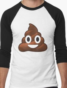 Poop Men's Baseball ¾ T-Shirt